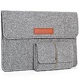 Young & Ming Laptop-Tasche, Filz, 15-15.4 Zoll Computer Sleeve Hülle Ultrabook Laptop Tasche Speziell für Apple Macbook pro 15 Zoll(Hellgrau)