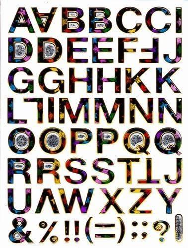 LETTRES LETTRES LETTRES colorè Decal autocollant de décalque 1 Metallic Glitter DiHommes sions de la feuille: 13,5 cm x 10 cm B00JO0JG20 1a0bb8