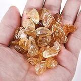 Piedras crudas de citrino en bruto Piedras de cristal de cuarzo Perforado en bruto Piedra natural Agujero lateral perforado Grano de pepita