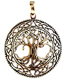 Großer Lebensbaum Yggdrasil Anhänger aus Bronze Nr. 50 A von Kiss of Leather
