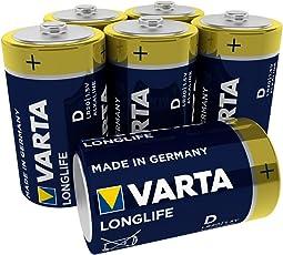Varta Longlife Batterie D Mono Alkaline Batterien LR20 - 6er Pack (Design kann abweichen)