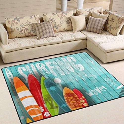 Use7 Alfombra de Surf con diseño Vintage y Elegante, para Sala de Estar o Dormitorio, Tela, 160cm x...
