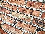 LushFabric Brick Wand-Effekt-Baumwollstoff - rote