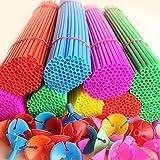 100 palos de globo portátil con vasos sellos de seguridad para niños, globos rellenos de aire para boda, cumpleaños, vacaciones, aniversario, fiesta