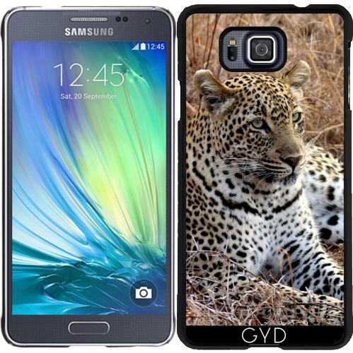 DesignedByIndependentArtists Custodia per Samsung Galaxy Alpha - Gatto Leopardo Tigre Leone by WonderfulDreamPicture