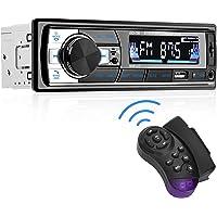 Aigoss Autoradio Bluetooth 60W x 4 FM Stéréo1 Din Radio, Lecteur MP3 Poste Main Libre Voiture, Support USB/ SD/ TF/ AUX…