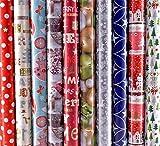 Wir bieten Ihnen hier 10 Rollen Geschenkpapier Weihnachten a 2m x 70cm an.  Kinder und Erwachsene lieben es Geschenke auszupacken.  Das Geschenkpapier bereitet mit seinen zehn verschiedenen Motiven schon vor dem auspacken Freude.  Dieses Produkt kenn...