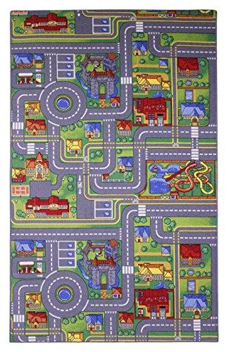 Straßenteppich Autoteppich Kinderzimmerteppich Kinder Läufer Spielteppich