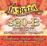 Labella L820B Flamenco Jeu de Cordes en nylon pour Guitare Medium Tension