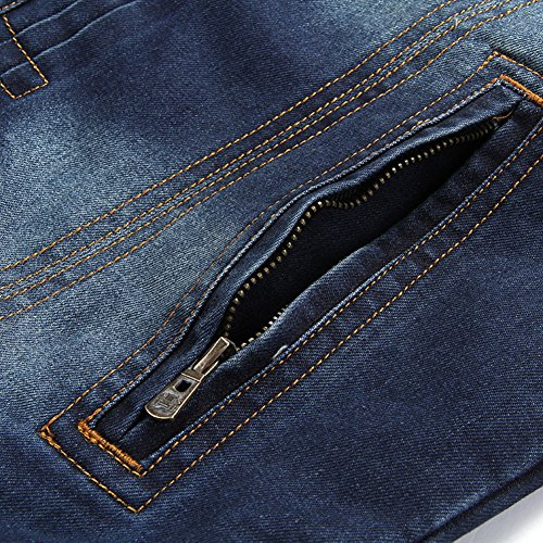 Denim Jeansjacke Herren Blau übergangs Jacke Freizeit Sakko 66008A - 4
