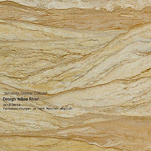 Sandstein Fliesen Platten 'Yellow River' als Wandverkleidung innen + Fassadenverkleidung außen (Flexibler Sandstein, 6 Fliesen a 59 x 29 x 0,2 cm -...