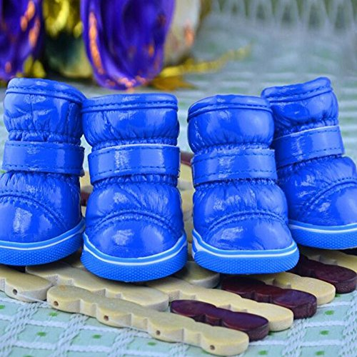 z Schöne Hund Stiefel Casual Hundeschuhe Rutschfeste Wasserdichte Schuhe für Herbst Winter Schnee (Schnee-tag Handwerk)