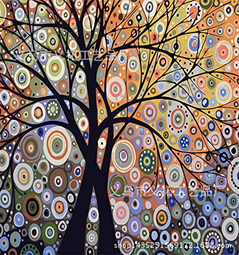 Digital painting Hand-painted pure European decorative painting hand-painted abstract creative figures * 50 reflex tree, 40 * 50