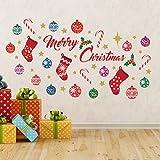 "Wallflexi Christmas Decorations Wall Stickers "" Merry Christmas Decoration Set"" Wall Murals Decals living Room Children Nursery School Restaurant Cafe Hotel Home Office Décor, multicolour"