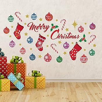 Wallflexi Christmas Decorations Wall Stickers