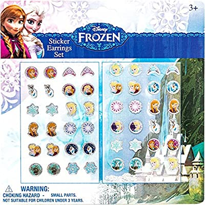 "Joy Toy ""Disney Frozen"" Stickers Earrings Set (24-Piece, Multi-Colour)"
