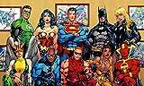 TST INNOPRINT CO Batman Superman Green Lantern Comics Superheroes Poster 13x21 inches