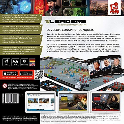 LEADERS 2019 von Rudy Games - Interaktives Strategiespiel mit App, Für Kinder ab 10 Jahren und Erwachsene | Brettspiel Gesellschaftsspiel Kriegsspiel Tabletop