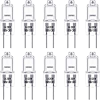 G4 Halogen Light Bulbs, Techgomade 12V 20W Halogen Pin Base Light, 3000K Warm White, 350LM, Dimmable, G4 Low Voltage…