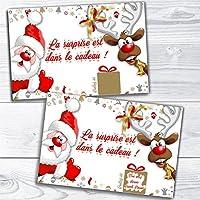 Carte à gratter Père Noël personnalisable annonce naissance, grossesse pour grands parents, futur papa, tante, oncle