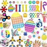 45 Pcs Fidget Toys Set Pack Cheap,Figetget toys set Pack,Sensory Relief Toys Set, Anxiety Relief Fidget Toys W