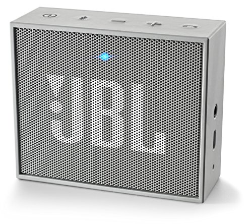 JBL Go - Altavoz portátil para smartphones, tablets y dispositivos MP3 (Bluetooth, recargable, entrada AUX), color gris