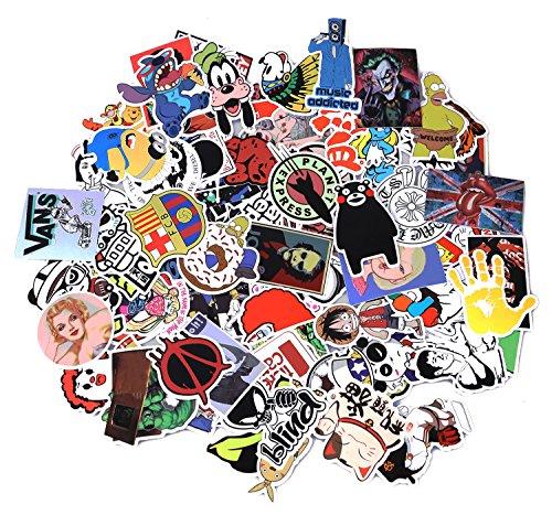 Neuleben Aufkleber Pack [100-pcs] Graffiti Sticker Decals Vinyls für Laptop, Kinder, Autos, Motorrad, Fahrrad, Skateboard Gepäck, Bumper Sticker Hippie Aufkleber Bomb wasserdicht (Serie-4)