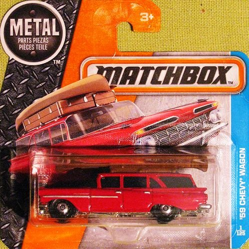 MATCHBOX Chevy Wagon - Oldtimer 1959 - 1:64 - rot