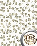 Dekorpaneel Rosen Dekor Blumen Design WallFace 16444 3D ROSE Paneel selbstklebend gold perlweiß   2,60 qm