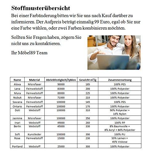 Wohnlandschaft Markos in grau/türkis, Farbänderung nach Wunsch 99?, Regal links