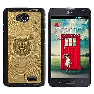 LASTONE PHONE CASE / Hart Hülle Tasche Schutzhülle Cover Shell Für LG Optimus L70 / LS620 / D325 / MS323 / Tree Core Rings History Brown