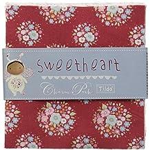 Tilda patchwork corazones para pulsera unidades Juego de 42 piezas 12,5 cm x 12,5 cm acolchado unidades
