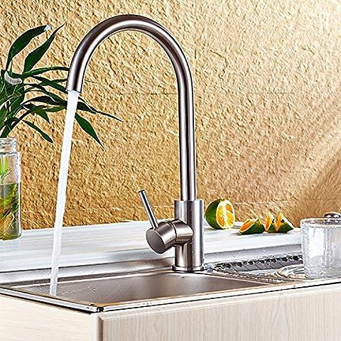 Tougmoo en acier inoxydable Mitigeur de lavabo 360-go Eau chaude et froide robinet de lavabo robinet de cuisine, Plus d'un