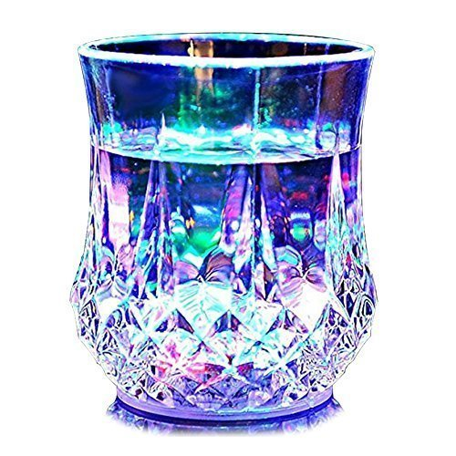 AllExtreme Rainbow Color Cup- Glass Beer Mug With Inductive Rainbow Color Disco LED 7 Colour Changing Liquid Activated Lights Multi Purpose Use Mug/Cup ,1 Unit ,Capacity-250ml(W/oHandle  available at amazon for Rs.250