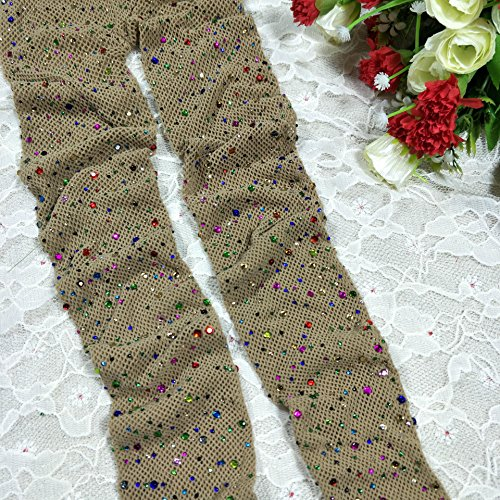 Wanglele Bas Résille Couleur Couleur Forage Net Filet Respirant Résille Bas Dix Paires De Chaussettes,A (Couleur De Peau)