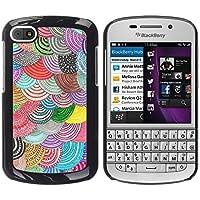 WonderWall Carta Da Parati Immagine Custodia Rigida Protezione Cover Case Per BlackBerry Q10 - Beret colorato arte DIY