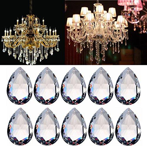 MASUNN 10St Kronleuchter Glas Kristall Beleuchtung Prismen Hängen Tropfen Anhänger 38Mm - Kristall Hängen Anhänger