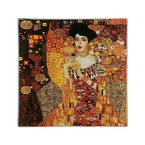 CARMANI - Plaque de verre carrée imprimé avec Klimt: