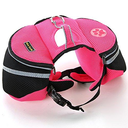 Satteltasche Hund für kleine Hunde | Hunderucksack | Rucksack | Tragetasche (pink)