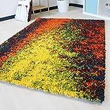 mynes Home Kuschelteppich Shaggy Hochflor in 5 Verschiedenen Größen. Bunter Langflor Teppich farbig für Wohnzimmer und Jugendzimmer mit Öko-Tex (200 x 290 cm)