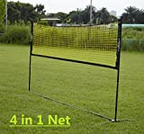 PodiuMax Portable Mini Tennis Net, 3m Wide with Adjustable Height for Volleyball, Badminton