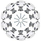 gotyou 10 stuks meubel-kristallen handgrepen, 30 mm kristallen deurgreep, ladekast, handvat, diamantvorm, kristallen handgree