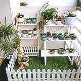 Ieve 4 pz bianco plastica recinzione decorazioni per albero di Natale Surround 4 x lunghezza 50 cm = 200 cm matrimonio decorazione miniatura casa giardino