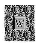 Telecharger Livres Manuel Woodworkers et Weavers Corail Couvre lit polaire 60 par 203 2 cm ornee d un Monogramme Lettre W Noir et gris Damas (PDF,EPUB,MOBI) gratuits en Francaise