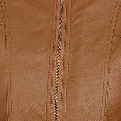 Broadstar Leather Brown Casual Jacket For Women