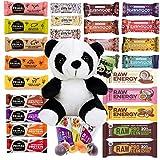 Vegane Snackriegel Probierpaket Panda - 12 Riegel Superfood Mix Fruits & Nuts von Primal Pantry RawmyGod GiddyBar und FigBar