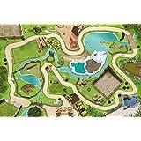 Zoo / Parque de Animales Juego Mat / Juego de alfombras - SM04 -Para el cuarto de los niños - Dimensiones: 150 x 100 cm - Accesorios adecuados para Schleich, Papo, Bullyland, Playmobil, Lego etc.