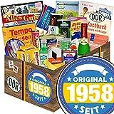 Original seit 1958 | DDR Geschenkbox | Spezialitäten der DDR XXL mit Trabi Puffreis Schokolade, Brausepulver, Rotkäppchen Sekt, Salmiak Pastillen, Filinchen Knusper, Pfeffi Likör und vielem mehr
