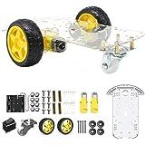 The perseids Smart Car Robot Kit de Chasis de Automóvil, Motor de Arduino de Automóvil Inteligente con Codificador de Velocid