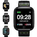 KUNGIX Montre Connectée, Q8 Bluetooth Smartwatch Fitness Tracker d'activité Montre Sport Podomètre IP67 Etanche Bracelet pour iPhone et Android